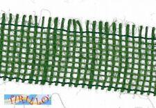 MERCERIA - 3 metri di nastro di juta altezza 4 centimetri - Verde scuro