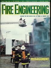 FIRE ENGINEERING MAGAZINE AUGUST 1989 ISSUE SAFE RESPONSE/INITIATING CHANGE