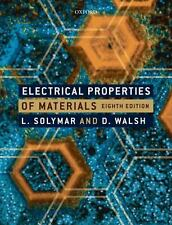 Electrical Properties of Materials, Walsh, Donald, Solymar, Laszlo, Good Book