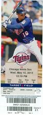 2013 Twins vs White Sox Ticket: Adam Dunn homered twice/Dayan Viciedo HR