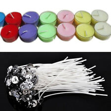 Cool 50pcs Candle Wicks Cotton Core Pre Waxed With Sustainers For Candle Making