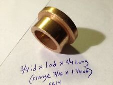 Oilite Flange Bushing Bronze 3/4 id x 1 od x 3/4 Brass Bush Shim Spacer Bearing