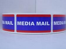 Media Mail  1x2 Stickers Shipping Mailing Labels 500/rl