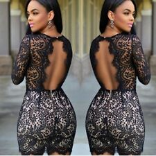 Sexy Women Summer Bandage Bodycon Lace Evening Party Cocktail Short Mini Dress