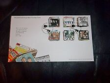 THE BEATLES ROYAL MAIL 2007 FIRST DAY COVER STAMPS SET MINT EDINBURGH  POSTMARK