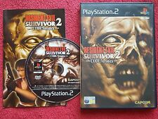 RESIDENT EVIL SURVIVOR 2 CODE VERONICA ORIGINAL BLACK LABEL SONY PS2 PAL