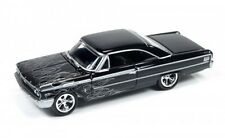 Johnny Lightning 1963 Ford Galaxie Gloss Black w/ Flame Die-Cast Car JLSF001