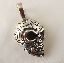 Skull - Craneo  [ 925 Sterling Silver ] Necklace Pendant