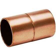 """(Bag of 25) 1"""" Copper Coupling with Rolled Stop CxC"""