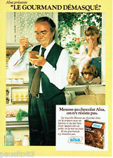 PUBLICITE ADVERTISING 036  1979  Alsa dessert mousse au chocolat