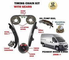 FOR PEUGEOT BOXER 2.2 HDi 100 120 2006-- NEW TIMING CAM CHAIN KIT + GEARS SET