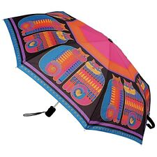 Laurel Burch Rainbow Cats Cousins Felines Compact Umbrella Auto Open And Close