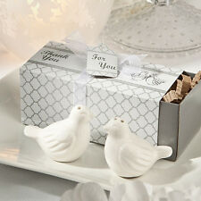 Ceramic Love Birds Salt & Pepper Shakers Wedding Bridal Shower Party Favors 2pcs