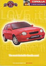 Toyota Corolla 3dr 1997-98 UK Market Sales Brochure CD G6 GS Sportif