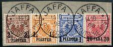 51/dp 1898 Turchia CORONA Aquila/9ba, 7d, 8d + 10d pezzo di lettera tassa dializzatori BPP