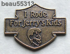 "AMF-HARLEY DAVIDSON 1980-1981 ""I RODE FOR JERRYS KIDS"" JERRY LEWIS MDA PIN"