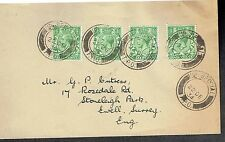 Up Special TPO 1934 postmarks on envelope to Surrey