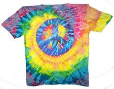 PETITE PEACE SIGN RAINBOW TYE DYED TEE SHIRT unisex SIZE XXLG  tie dye NEW PET12