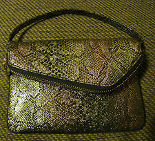 New HOBO INTERNATIONAL Zara Strap Wristlet Clutch Wallet Iridescent Exotic