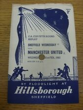 21/02/1962 Sheffield Wednesday v Manchester United [FA Cup replay] (4 páginas, Lar