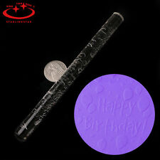 Textured Embossing Acrylic Rolling Pin Fondant Sugarcraft Cake Decorating Craft