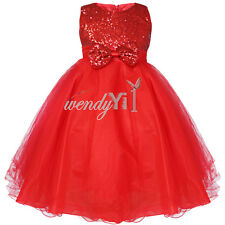 GIRLS Flower Formal Bridesmaid Party Princess Prom Wedding Christening Kid Dress