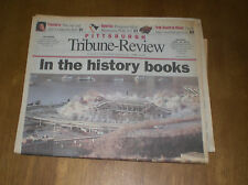 2001 STEELERS THREE RIVERS STADIUM IMPLOSION -  TRIBUNE REVIEW NEWSPAPER
