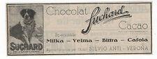 Pubblicità 1925 CIOCCOLATO SUCHARD MILKA VELMA old advertising werbung publicitè