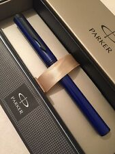 NEW PARKER BETA NAVY BLUE/BLACK TRIM BALLPOINT PEN-BLACK INK-GIFT BOX