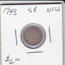 Canada 1943 Newfoundland 5 cent silver coin