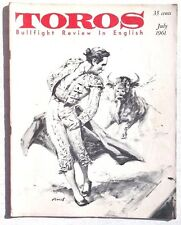 Vintage July 1961 Toros (Matador) Bullfighting Review In English Magazine