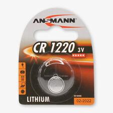 ANSMANN 3V Lithium button cell, coin cell CR1220 (DL1220)