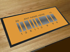 Personalised Back to the Future 2 Bar runner counter mat Pubs & Cocktails Bar