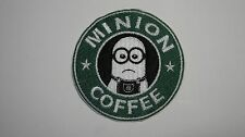 DESPICABLE ME MINION COFFEE STARBUCKS MINION FANS EMBROIDERED PATCH SEW  IRON ON