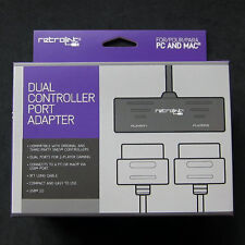 Retrolink SFC Super Nintendo SNES Controller adapter to for PC Mac USB Dual Port