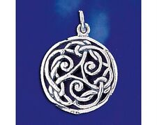 Sterling Silver Celtic Knot Pendant Keltic Irish Classic Charm Solid 925 Italy