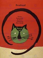 EXHIBITION FESTIVAL FILM MOVIE CAT POLAND WARSAW ART PRINT POSTER BB7402
