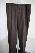 NWT $70 Banana Republic Reegan Wool Blend Brown & Black Lined Dress Pants Sz-14