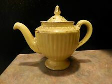 Vintage Hall Yellow & Gold Teapot USA RARE