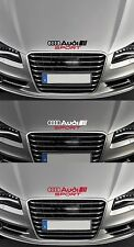 """para Audi Audi Sport 'Bonnet VINILO COCHE DECAL STICKER ADHESIVO A3 A4 - 300mm de largo"