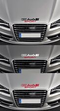 For Audi 'AUDI SPORT' Bonnet VINYL CAR DECAL STICKER ADHESIVE A3 A4 - 300mm long