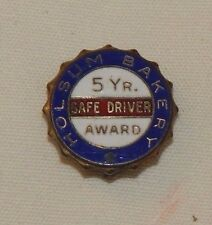 Vintage Holsum Bakery 5 years safe driver truck driver award pin