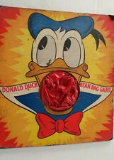 1950s Donald Duck Bean Bag Game Board