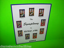 LASERSTAR SYMPHONY By ROWE AMI ORIGINAL JUKEBOX PHONOGRAPH PROMO SALES FLYER