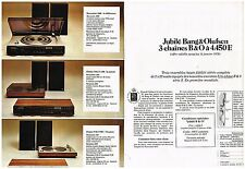Publicité Advertising 1975 (2 pages) les Chaines Hi-Fi Jubilé Bang & Olufsen