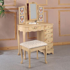 New Cottage Ivory Hand Painting Floral Jewelry storage Make Up Table Vanity Set