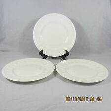 Wedgwood Colosseum Bread Butter plates set 3 white embossed rim bars bicentenary