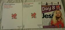 3 x bundle Official Programme London 2012 Olympic Paralympic Games