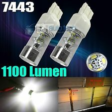 2X 1100 Lumens 7443 2538 Chip White Backup Reverse High power LED Light Bulbs