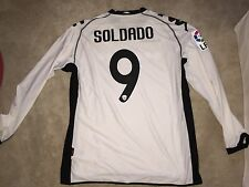 Kappa Valencia Home 10/11 Soldado L/S Player Issue Jersey, Shirt, Size 2XL